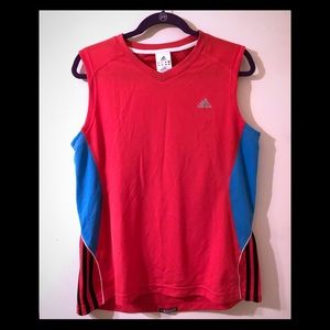 Adidas red and blue sport shirt
